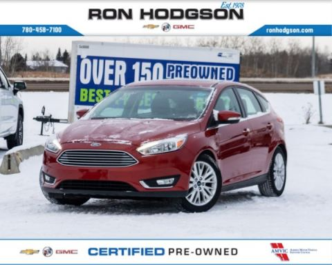 2018 Ford Focus Titanium LOADED LEATHER ROOF HTD SEATS/WHEEL LOW KM