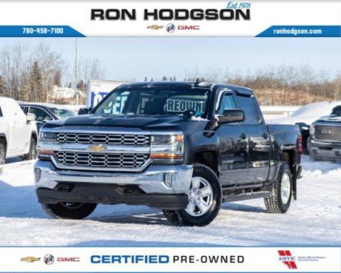 Certified Pre-Owned 2018 Chevrolet Silverado 1500 LT CREW RMT START PWR SEAT TRUE NORTH LOW KM 4WD Crew Cab Pickup