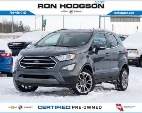 Pre-Owned 2018 Ford EcoSport Titanium HTD SEATS/WHEEL LTHR ROOF NAVI LOADED 4WD Sport Utility